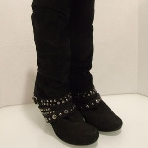 Naughty Monkey Women's Size 8.5 Boots Black